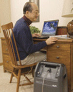 Patient with AirSep VisionAire Oxygen Concentrator