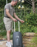 Patient with Eclipse 5 with AutoSAT Portable Oxygen Concentrator